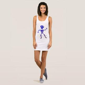 Robe de dames de concepteurs avec le squelette