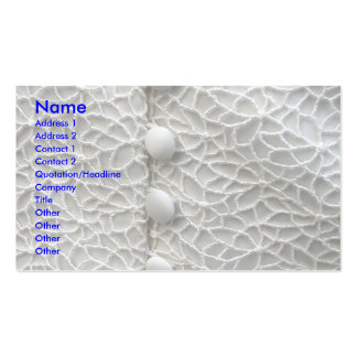 Robe de mariage blanche carte de visite standard