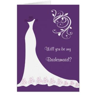 Robe de mariage blanche, remous sur la demoiselle cartes