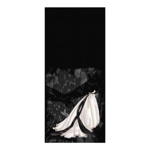 Robe de mariage noire et blanche carte double zazzle for Robes de mariage double baie