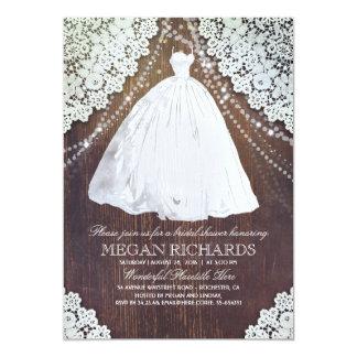 Robe de mariage rustique nuptiale de la dentelle | carton d'invitation  12,7 cm x 17,78 cm