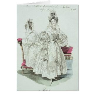 """Robe de mariage, """"salons de Le Follet Courrier Carte De Vœux"""