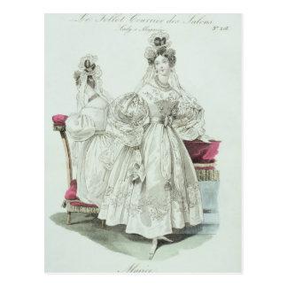 """Robe de mariage, """"salons de Le Follet Courrier Carte Postale"""