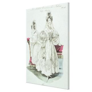 """Robe de mariage, """"salons de Le Follet Courrier Toiles Tendues"""