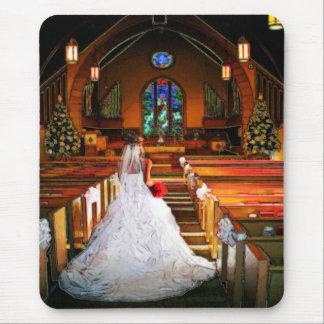 Robe de mariage tapis de souris