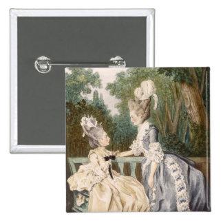 Robe de matin des dames, 1771 (gravure de couleur) badges