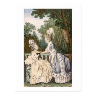 Robe de matin des dames, 1771 (gravure de couleur) carte postale