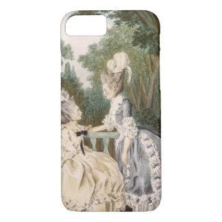 Robe de matin des dames, 1771 (gravure de couleur) coque iPhone 7