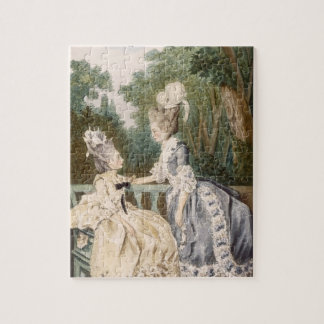 Robe de matin des dames, 1771 (gravure de couleur) puzzle