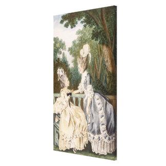 Robe de matin des dames, 1771 (gravure de couleur) toiles