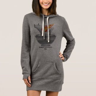 Robe de sweat - shirt à capuche de femmes de