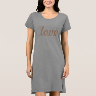 Robe de T-shirt - amour
