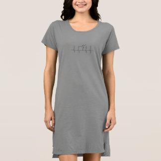 Robe de T-shirt de battement de coeur de danse