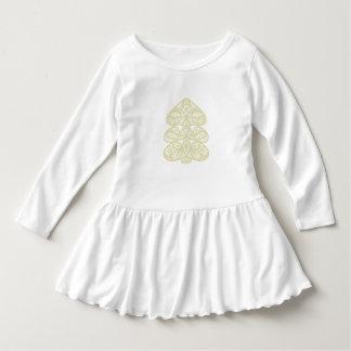 Robe d'enfant en bas âge d'arbre de Noël