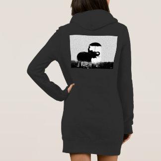 Robe du sweat - shirt à capuche des femmes d'art