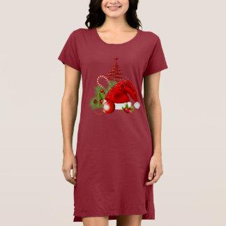 Robe du T-shirt des femmes de Noël