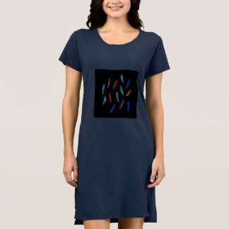 Robe du T-shirt des femmes de plumes d'aquarelle