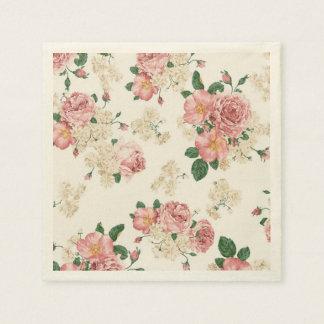 Robe élégante adorable, floral Motif-Personnalisée Serviette Jetable