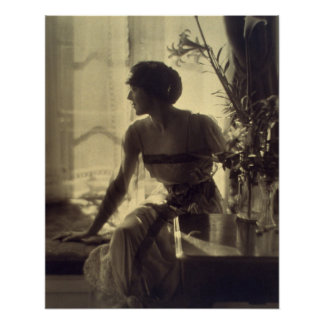 robe élégante de femme de mode des années 1920 poster