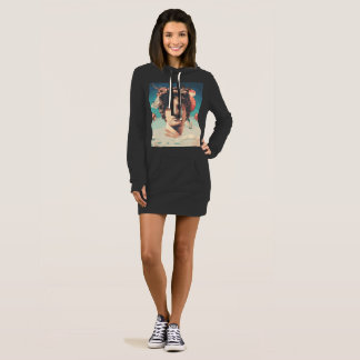 Robe esthétique de sweat - shirt à capuche de