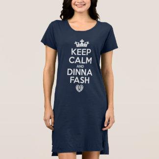 Robe Gardez le calme et le pyjama d'ennui de Dinna