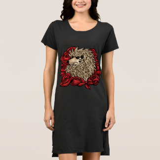 Robe grincheuse de T-shirt de hérisson
