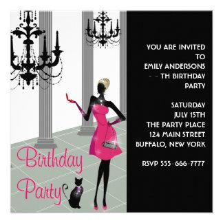 Robe habillée de lustre tout anniversaire de fille invitation personnalisée