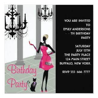 Robe habillée de lustre tout anniversaire de invitation personnalisée