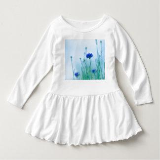 Robe Manches Longues filles de fleur bleues supérieures