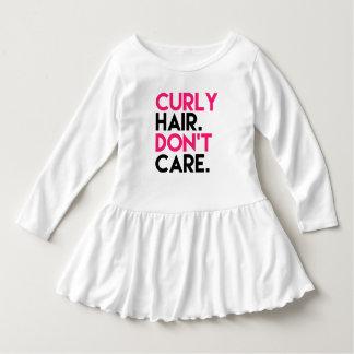 Robe Manches Longues Les cheveux bouclés drôles ne s'inquiètent pas la
