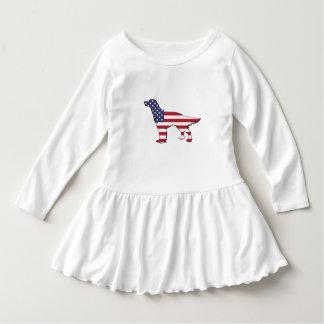 """Robe Manches Longues Poseur anglais - """"drapeau américain """""""