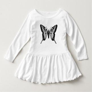 Robe mignonne de filles d'ailes de papillon