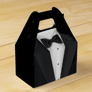 Robe noire de smoking et de mariage ballotin pour dragées