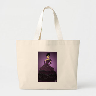 Robe pourpre de perle grand tote bag