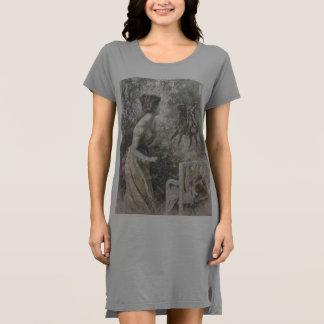 Robe romantique de T-shirt d'habillement de