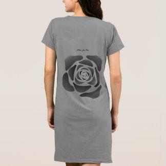 Robe Rose de noir de rose de Kelly Jean sur le Jersey