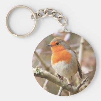 Robin gai porte-clé rond