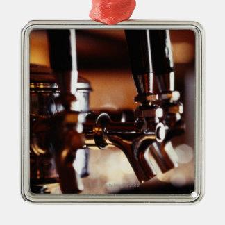 Robinets de bière ornement carré argenté