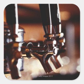Robinets de bière sticker carré