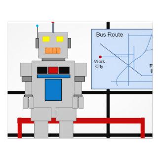 Robot à un arrêt d'autobus prospectus 11,4 cm x 14,2 cm