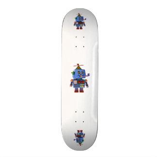 Robot bleu de jouet de fête d'anniversaire plateaux de planche à roulettes