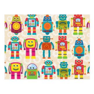Robot coloré d'enfants cartes postales