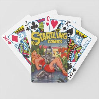 Robot de voyou jeux de cartes