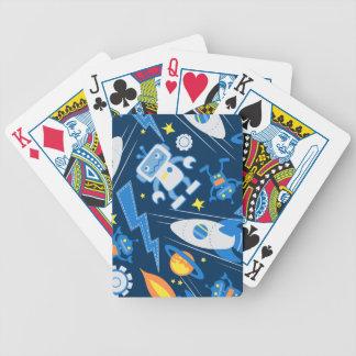 Robot d'espace jeu de cartes