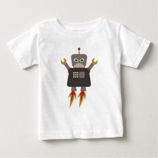 Robot drôle de rétrofusée t-shirt pour bébé