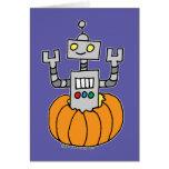 Robot en citrouille carte