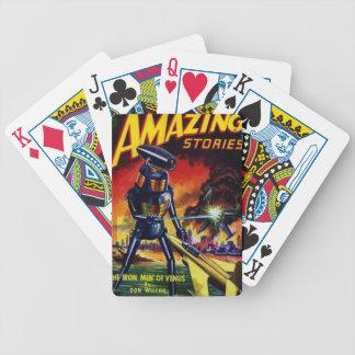 Robot étranger mauvais jeu de cartes