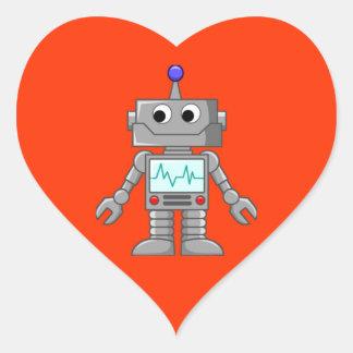 Robot Freak Sticker Cœur