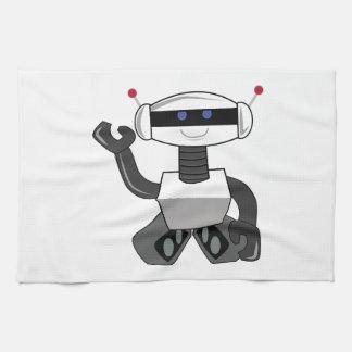 Robot heureux serviettes pour les mains