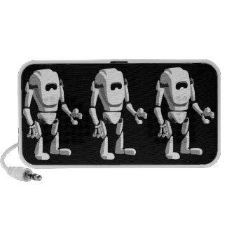 robot mignon haut-parleur mp3